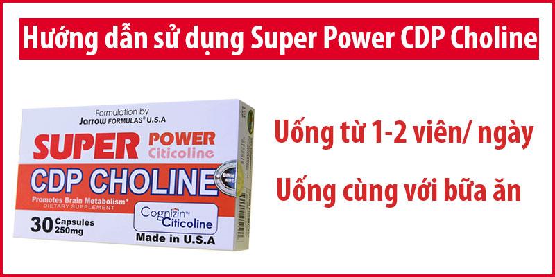 super power cdp choline có tốt không