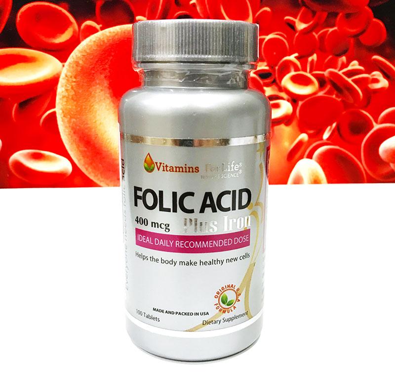 viên uống folic acid 400mcg vitamins for life có tốt không