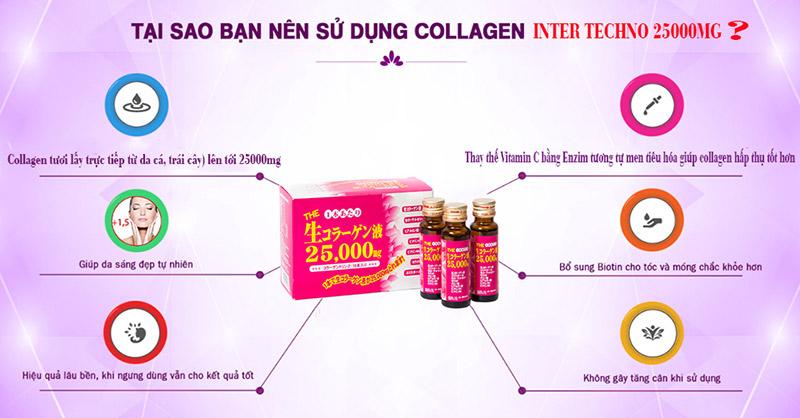 collagen inter techno 25000mg có tốt không