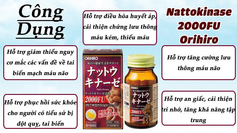 viên uống hỗ trợ chống đột quỵ nattokinase 2000fu orihiro có tốt không
