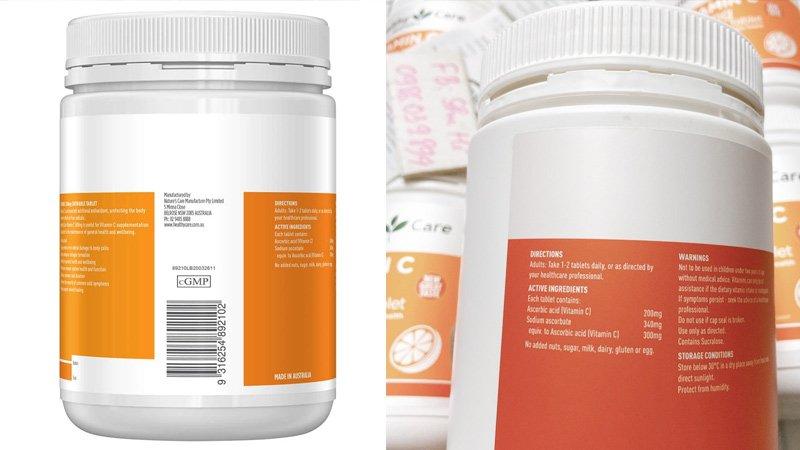 thanh phan healthy care vitamin c 50mg